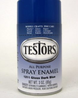 TE1211 Testors Gloss Dark Blue Spray Enamel-0